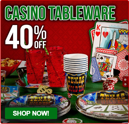 casino tableware - Casino Party Decorations