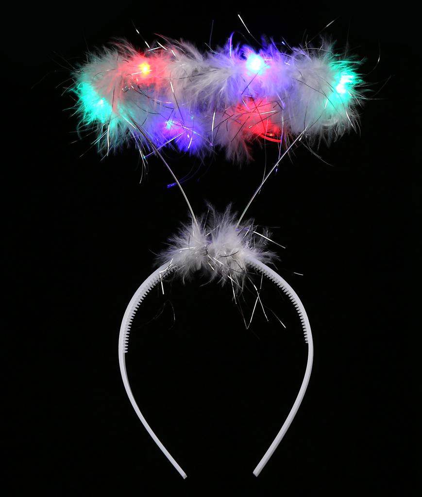 Led Angel Halo Headband Multicolor I Tie Black