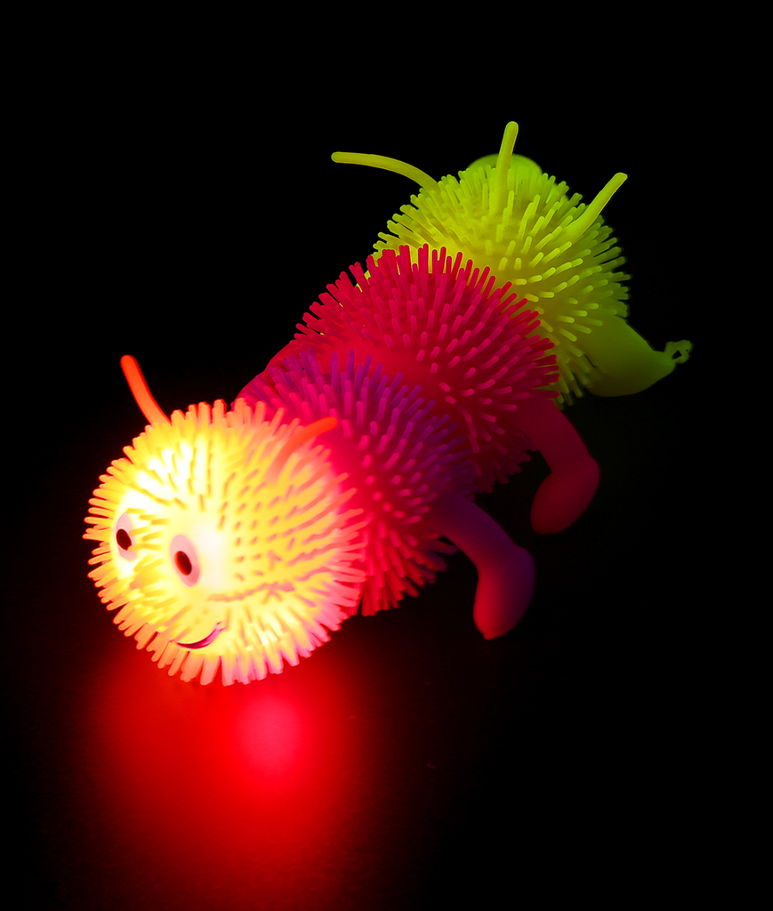 Led squishy toys party supplies coolglow led rainbow caterpillar publicscrutiny Gallery