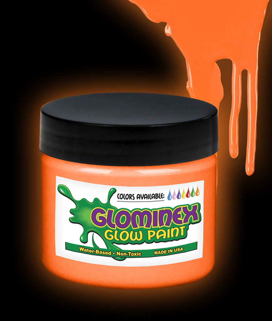 glominex glow paint pint orange. Black Bedroom Furniture Sets. Home Design Ideas
