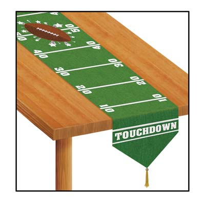 printed game day football table runner 11in x 6ft - Football Decorations