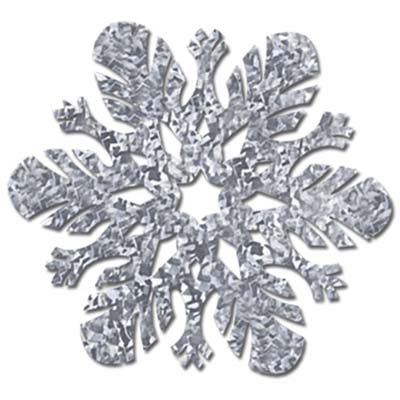 Prismatic Snowflake Cutouts 14in silver