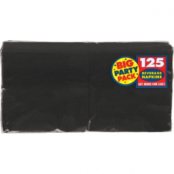Jet Black Big Party Pack Beverage Napkins