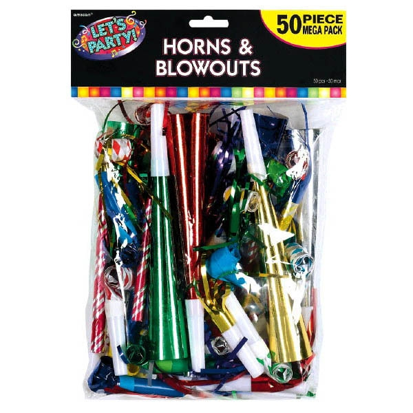 Mega Pack Horns and Blowouts 50ct