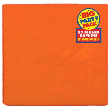 Orange Peel Big Party Pack 2-Ply Dinner Napkins 50ct