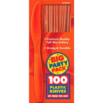 Big Party Pack Orange Peel Plastic Knives 100ct