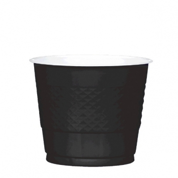Jet Black Plastic Cups 9 oz.