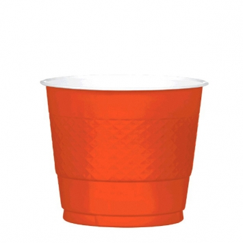 Orange Peel 9oz Plastic Cups 20ct