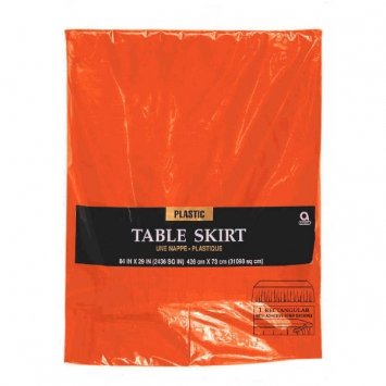 Orange Peel Solid Color 84 in. Plastic Table Skirt
