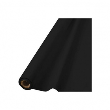 Jet Black Solid Table Roll 40 in x 100 ft