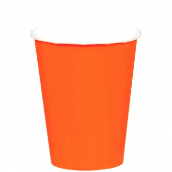 Orange Peel 9oz Paper Cups 8ct