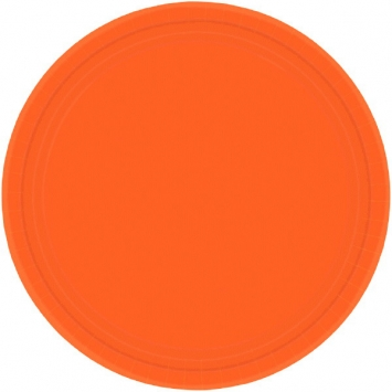 Orange Peel 7 in. Paper Plates 8ct