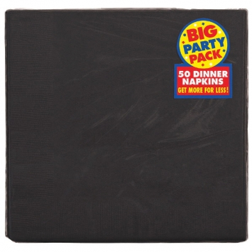 Jet Black Big Party Pack 2-Ply Dinner Napkins 50ct