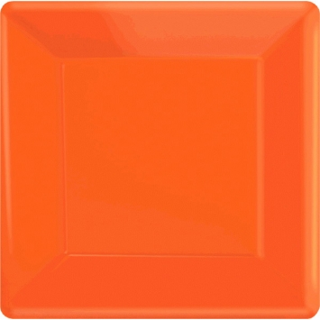 Orange Peel 7 in. Square Paper Plates 20ct