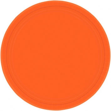 Orange Peel 9 in. Paper Plates  8ct