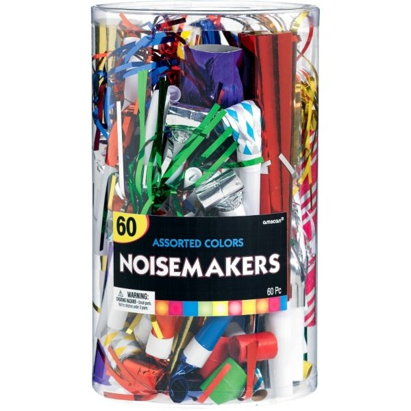Plastic Big Party Pack Noisemakers - Assorted Colors