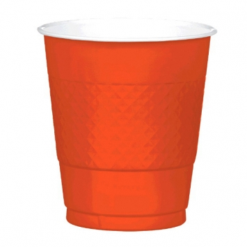 Orange Peel 12oz. Plastic Cups 20ct