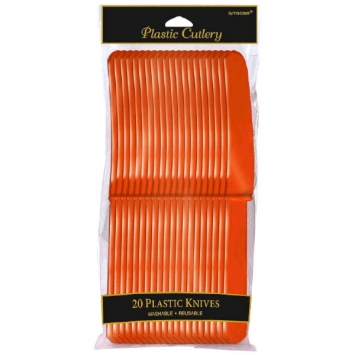 Orange Peel Plastic Knives 20ct