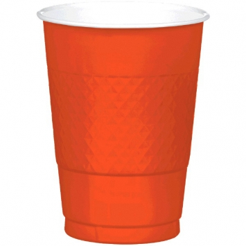 Orange Peel 16oz Plastic Cups 20ct