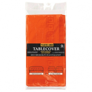 Orange Peel 3-Ply Paper Table Cover 53 x 108