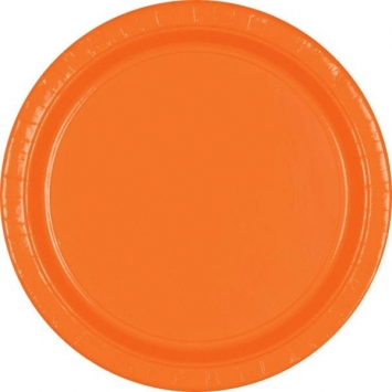 Orange Peel 7 in. Paper Plates 20ct