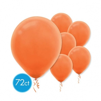 Orange Peel Solid Color 12 in. Latex Balloons - Packaged 72ct