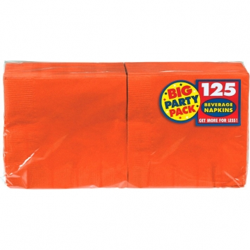 Orange Peel Big Party Pack Beverage Napkins 125ct