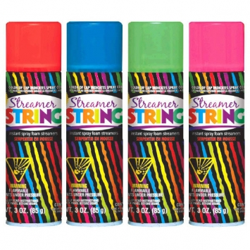 Streamer String Assortment - Non-Flammable 3 oz.