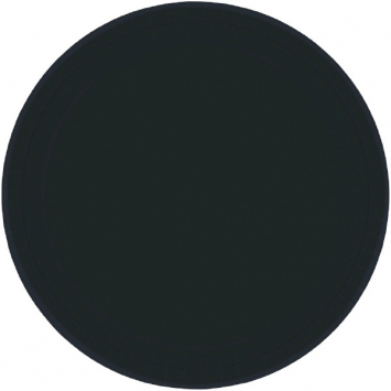 Jet Black Paper Plates 7in 8ct