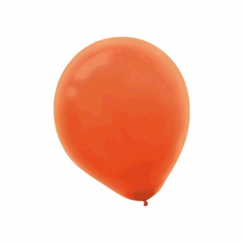 Orange Peel Solid Color 12 in. Latex Balloons - Bulk 100ct