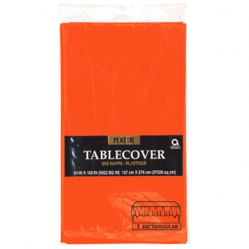 Orange Peel Rectangular Plastic Table Cover 108 in.