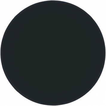Jet Black Paper Plates 9 in 8ct