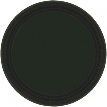 Jet Black Paper Plates 7in 20ct