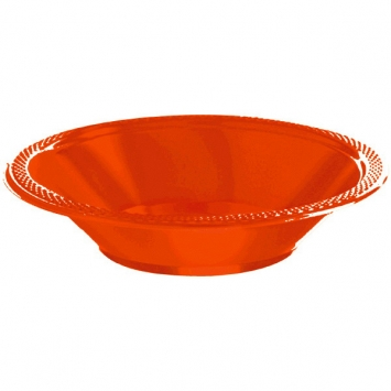 Orange Peel 12oz Plastic Bowls 20ct