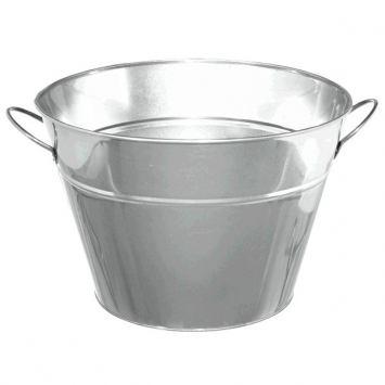 Silver Metal Party Tub 17 34in x 15in