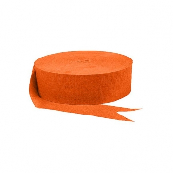 Orange Peel Jumbo Solid 500ft Crepe Streamer