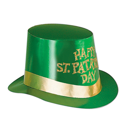 Glittered St Patrick's Day Foil Hi-Hat