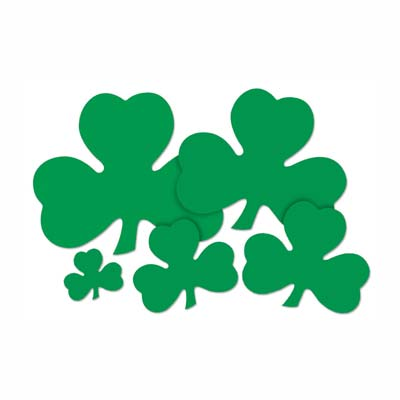 Printed Shamrock Cutout 9in