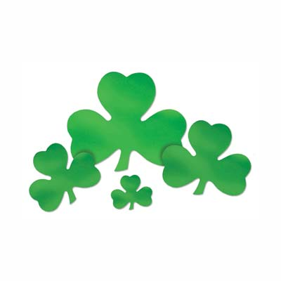 Foil Shamrock Cutout 12in