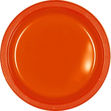 Orange Peel 10.25 in. Plastic Plates 20ct