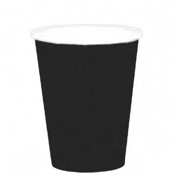 Jet Black Paper Cups 9oz. 20ct
