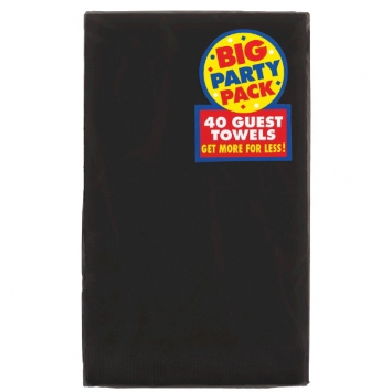 Jet Black Big Party Pack 2-Ply Guest Towels 40ct