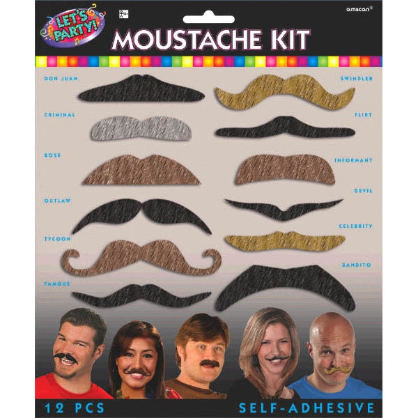 Let's Party Moustache Kit