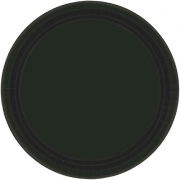 Jet Black Paper Plates 10.5in 20ct