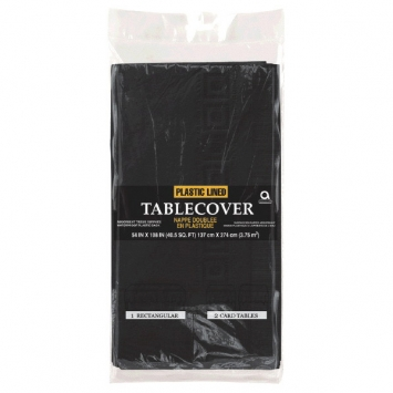 Jet Black 3-Ply Paper Table Cover 53 x 108 in