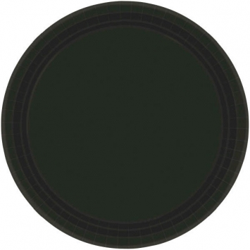 Jet Black Paper Plates 9in 20ct