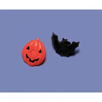 Halloween Plastic Lip Whistle 8ct