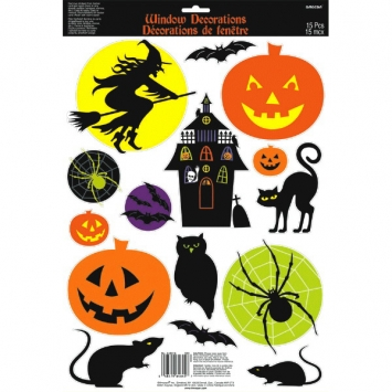 Halloween Icon Vinyl Window Decoration 18 in.