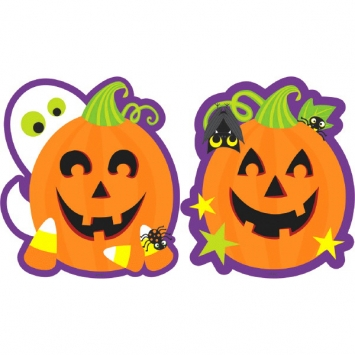 Paper Pumpkin Cutouts Bulk Assorted 11 in