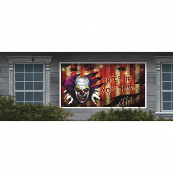 Creepy Carnival Horizontal Plastic Banner 65 in.